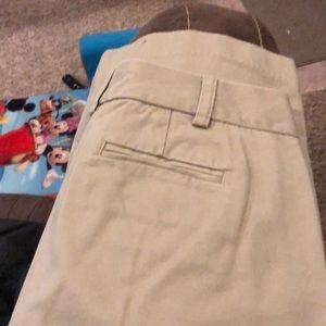 Wide leg trousers.